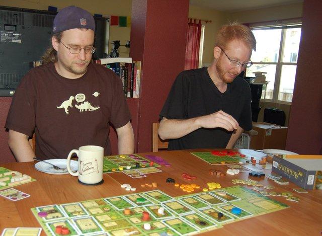 Yanthor and Humblik play Agricola