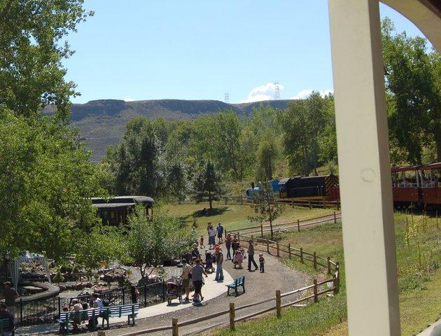 Thomas the Tank Engine excursion train at the Colorado Railroad Museum