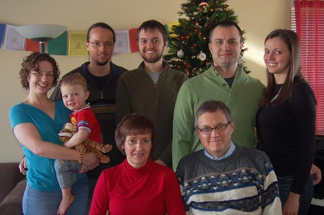2011 Logan family Christmas photo, featuring Calvin
