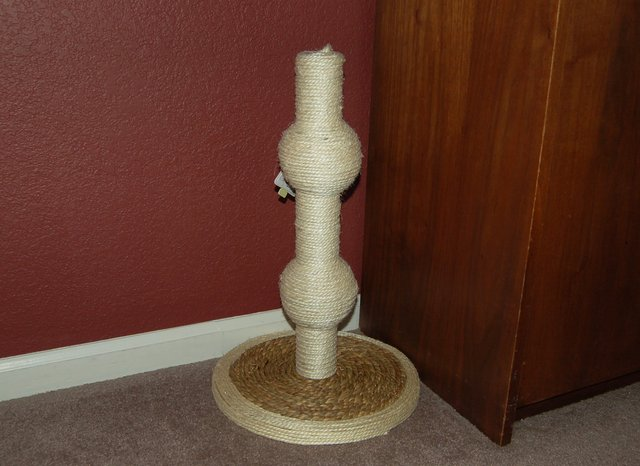 Fanciful cat scratching post