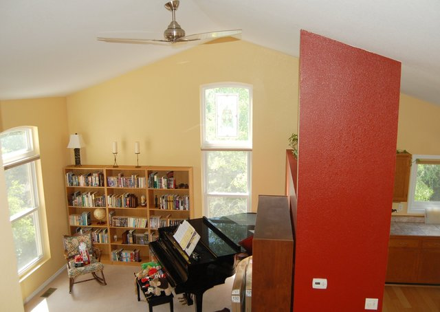 Living room, after painting and unpacking