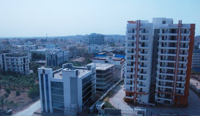 View out hotel window in Hyderabad
