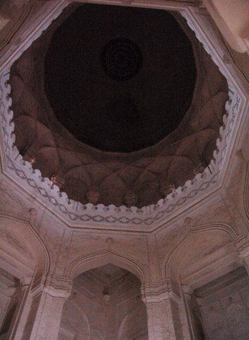 Inside the dome in one of the Qutb Shahi tombs