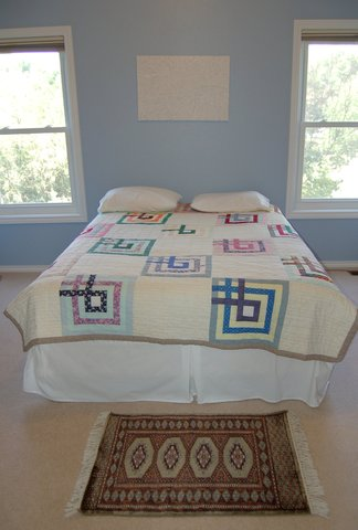 Kashmir rug in bedroom