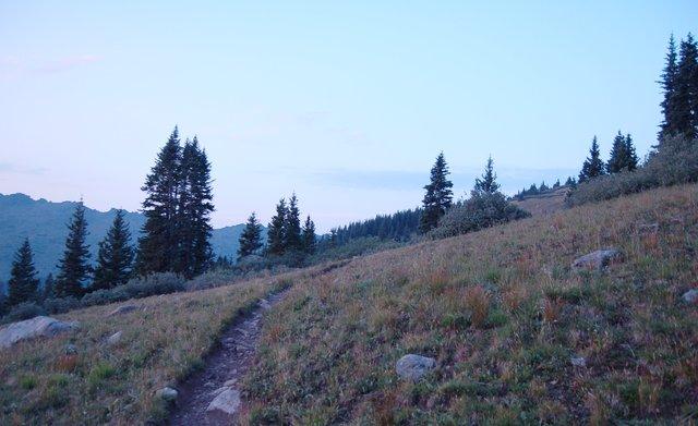 Notch Mountain Trail at dawn