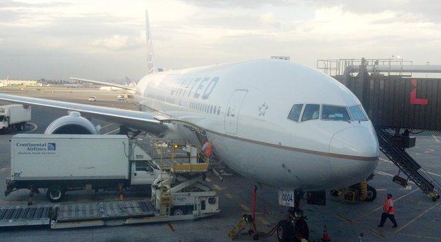 N78004 waiting at Newark to take me to Delhi