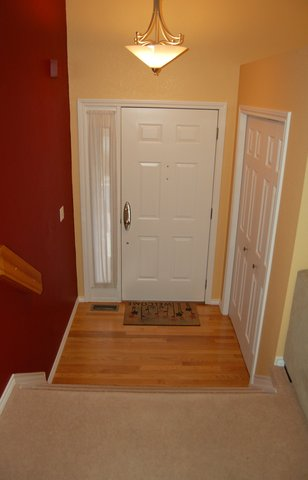 Entryway prior to wood floor installation