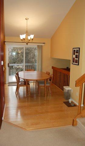 Dining room with original flooring