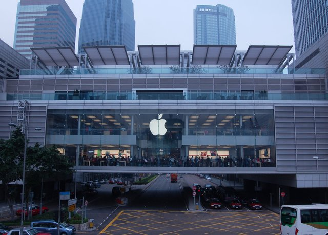 Apple Store in Central, Hong Kong