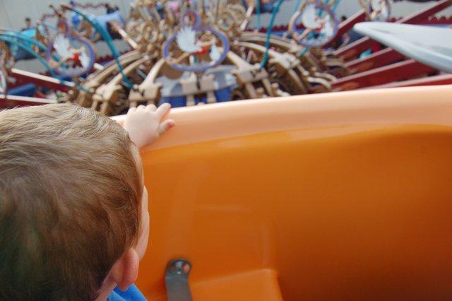 Calvin rides Dumbo