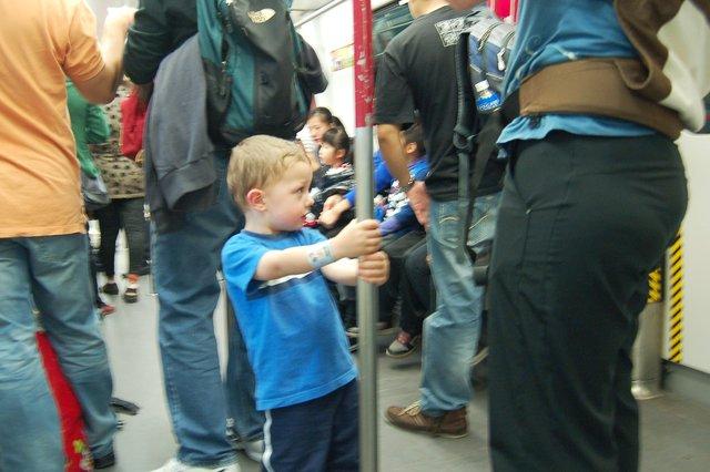Calvin rides MTR