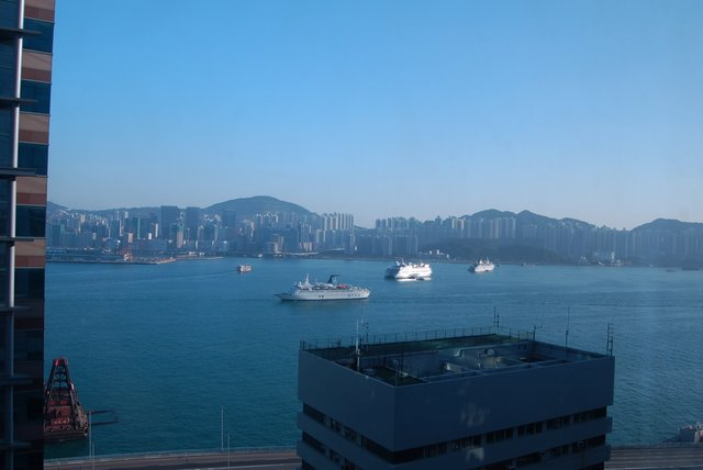Victoria Harbour from the hotel window