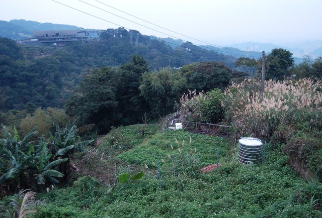 Top of the Maokong Gondola and surrounding countryside