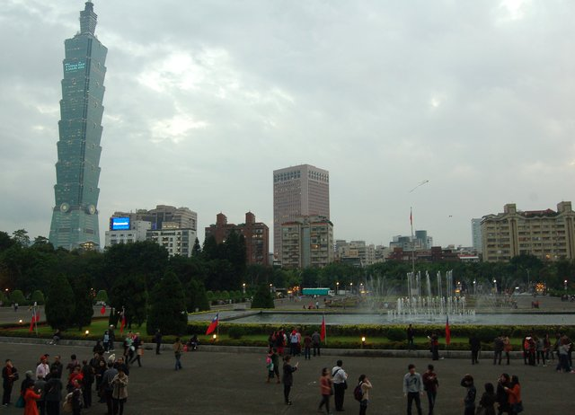 Taipei 101 from the Sun Yat-sen Memorial Hall