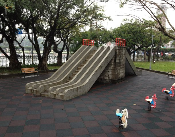 Slide in the playground at the 228 Peace Park