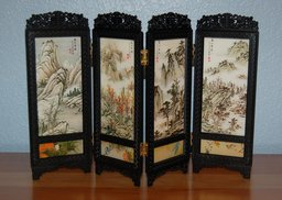 Plastic screen in a classical Chinese style