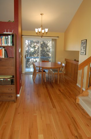 Kitchen with new hard wood floors