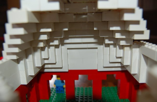 Interior of dome on Lego Mughal palace