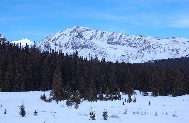 Mount Audubon in spring snow