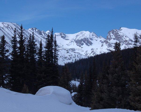 Apache Peak in spring snow