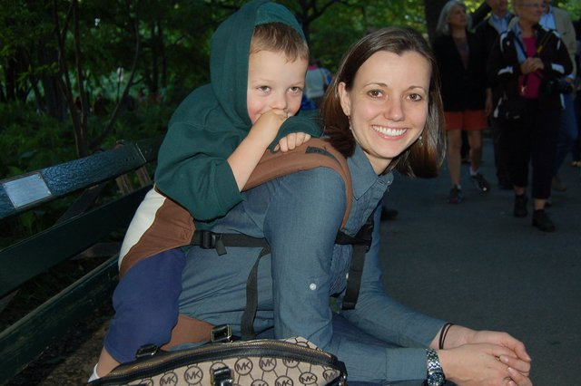 Calvin and Aunt Bethany at Strawberry Fields
