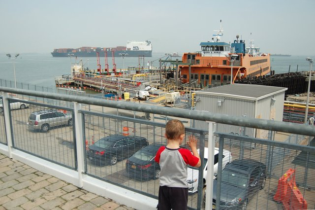 Calvin watches shipping from Staten Island
