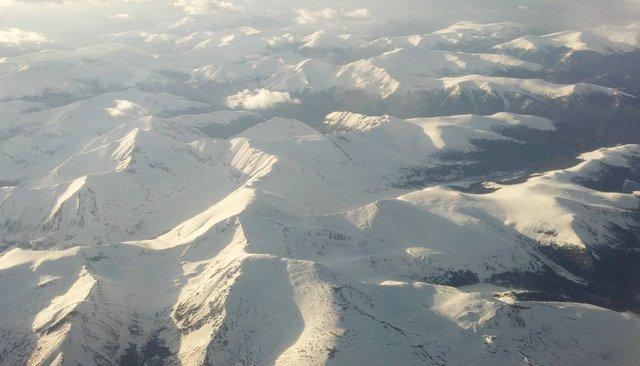 Snow-covered Colorado Front Range