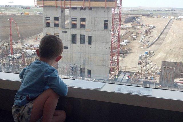 Calvin looks at construction at DIA's south terminal