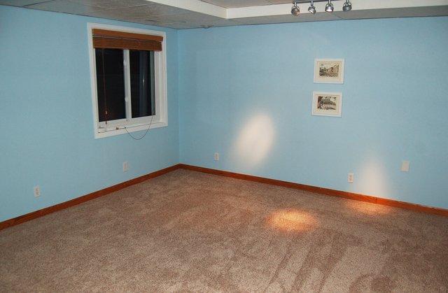 New carpet installed in basement