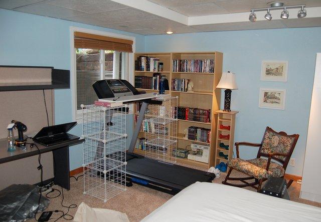 Treadmill reinstalled in basement, post-flood