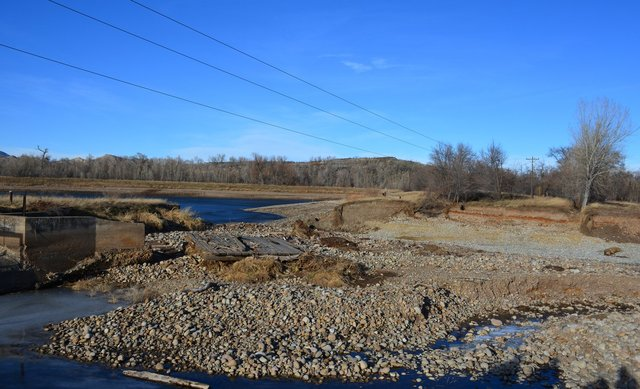 New channel carved by the St. Vrain River