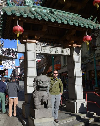 Jaeger at Chinatown gate