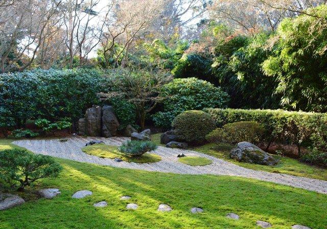 Zen garden at the Japanese Tea Garden
