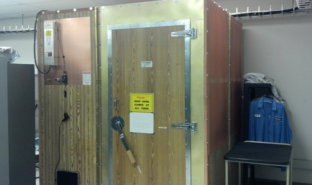 Closet-sized Faraday cage