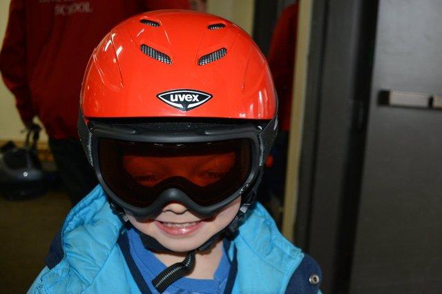 Calvin prepares to go skiing