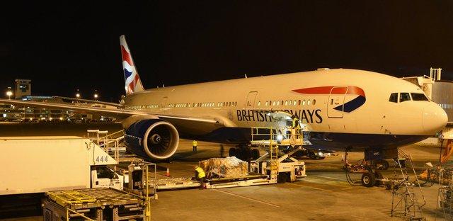 British Airways Boeing 777-200 G-YMMC at Denver International Airport