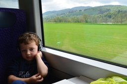 Calvin in the First ScotRail service to Inverness