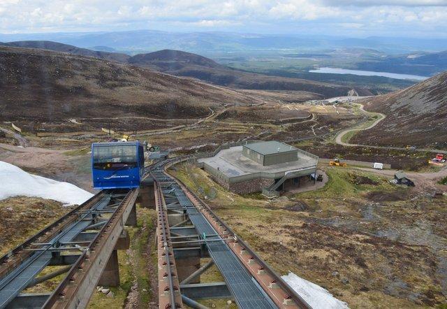 Funicular railway at CairnGorm Mountain