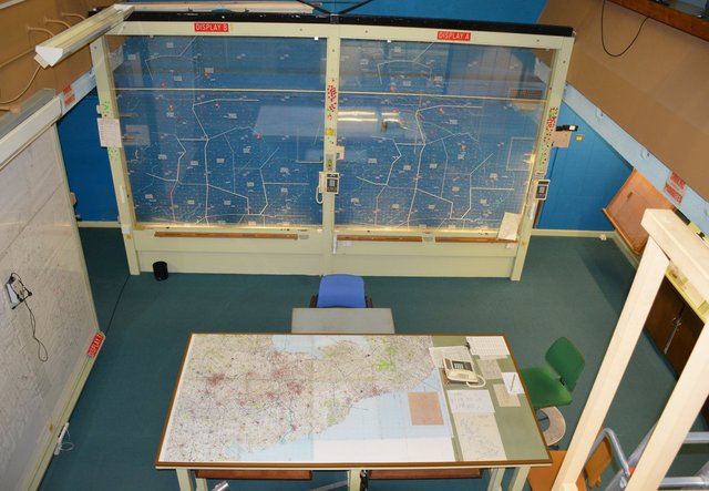 Situation room at the York Cold War Bunker