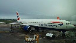 British Airways Boeing 767-300 G-BZHA at Edinburgh Airport