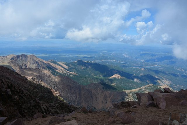 Looking north from Pikes Peak