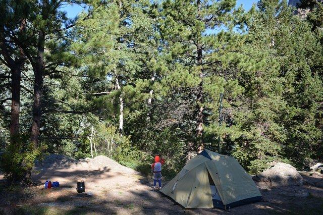 Calvin at Rabbit Ears campsite