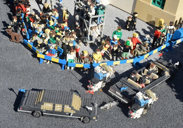 Presidential motorcade in Legoland's Miniland