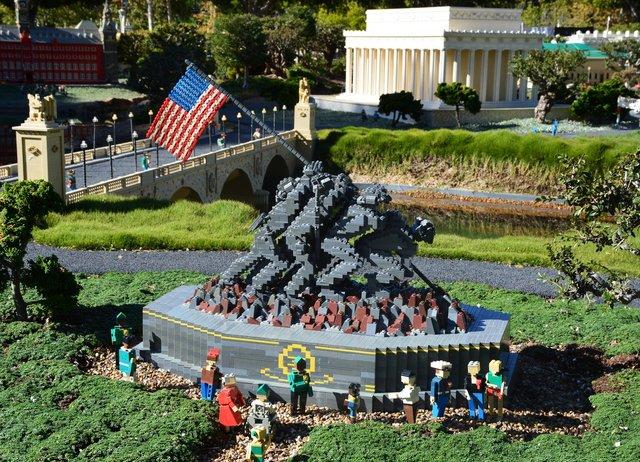 Iwo Jima Memorial in Legoland's Miniland