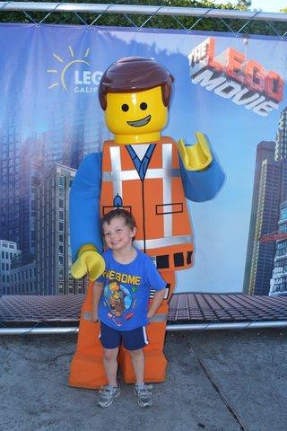 Calvin with Lego Emmet