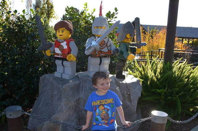 Calvin with Lego soldiers