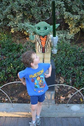 Calvin with Lego Yoda