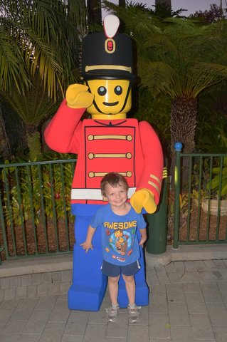 Calvin with a Lego toy soldier