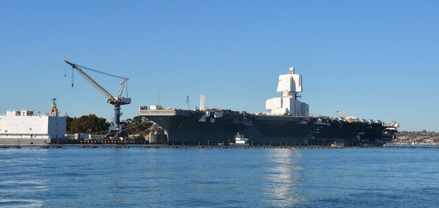 USS Ronald Reagan (CVN-76) in San Diego Harbor