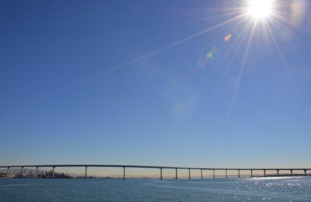Coronado Bridge and San Diego Harbor